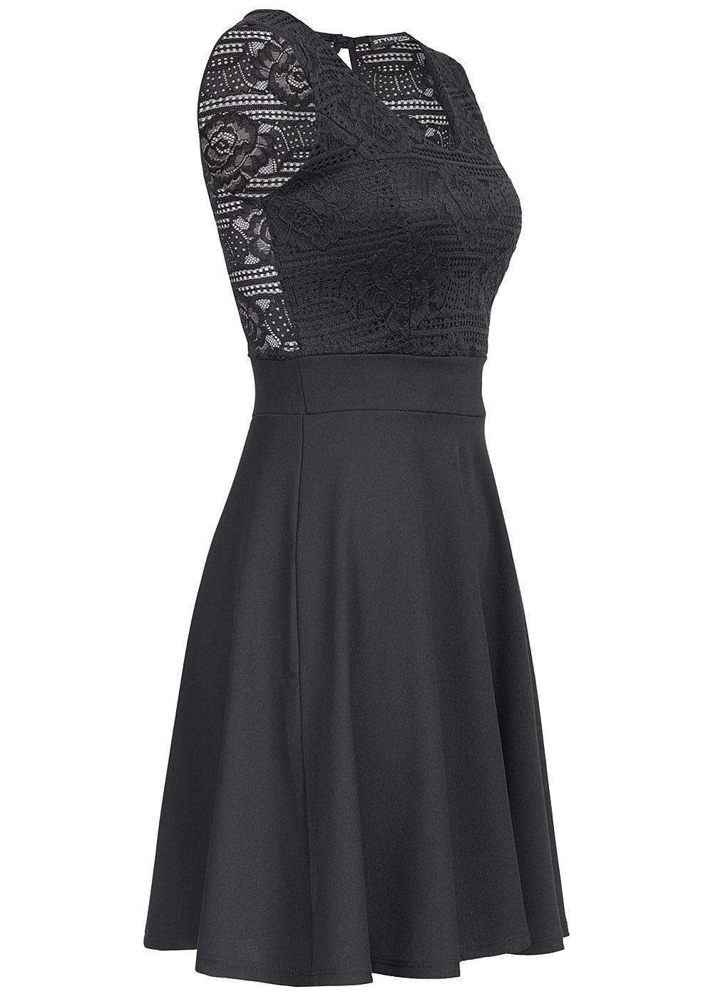 styleboom fashion damen mini kleid spitze oben brustpads schwarz 77onlineshop. Black Bedroom Furniture Sets. Home Design Ideas