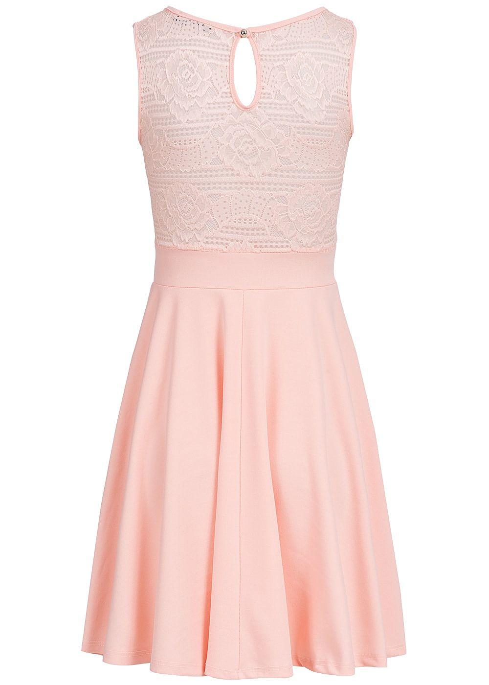 styleboom fashion damen mini kleid spitze oben brustpads rosa 77onlineshop. Black Bedroom Furniture Sets. Home Design Ideas