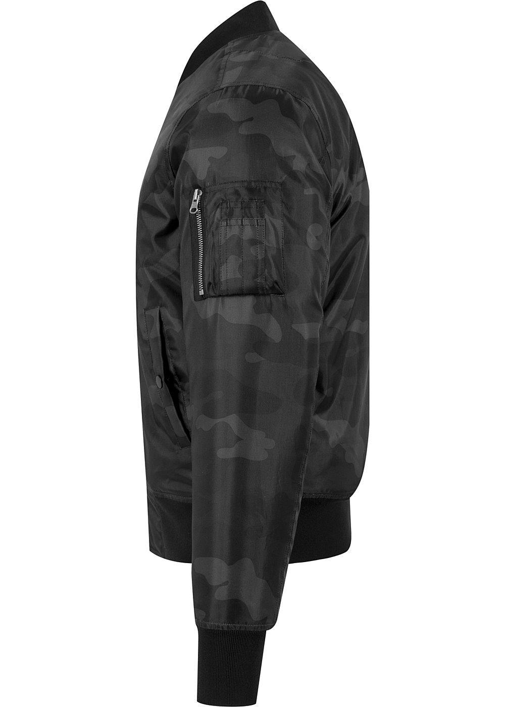 Großer Rabatt Seventyseven LifestyleTB Men Bomber Jacke im Allover Camo Print dark camo