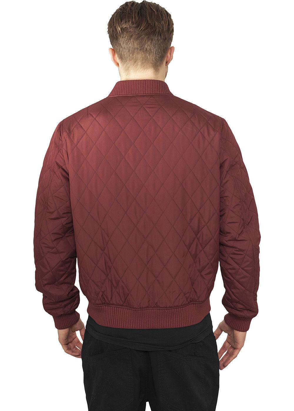 Großer Rabatt Seventyseven LifestyleTB Men abergangsjacke gequiltete Struktur burgundy rot