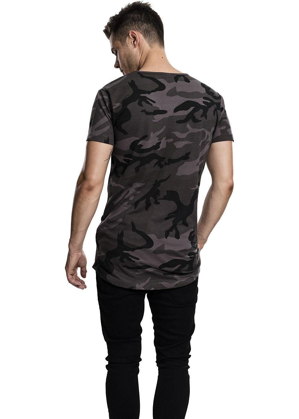 seventyseven lifestyle men t shirt extra langer schnitt allover camo design dark camo 77onlineshop. Black Bedroom Furniture Sets. Home Design Ideas
