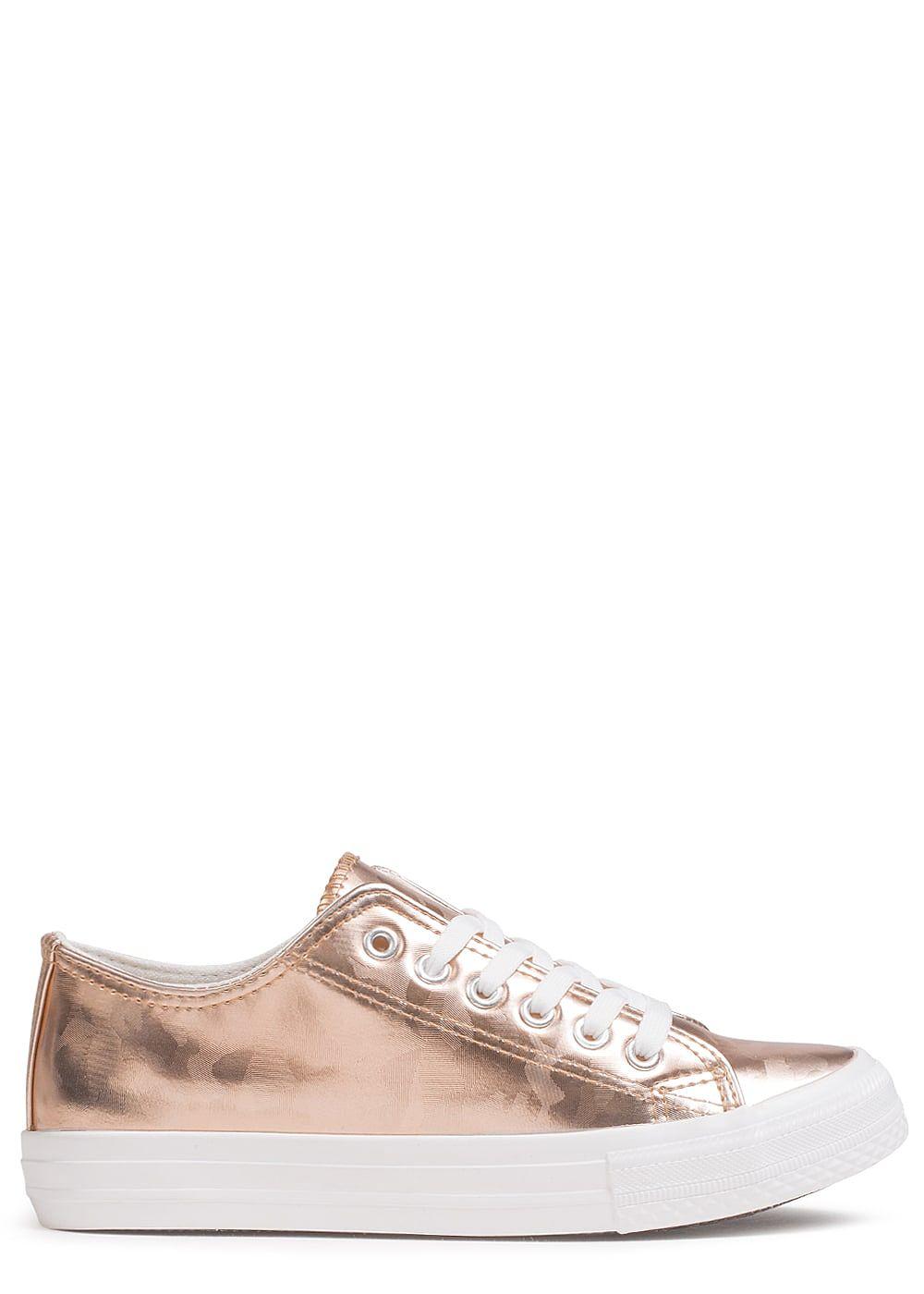 seventyseven lifestyle schuh damen sneaker zum schn ren camouflage design rosa gold 77onlineshop. Black Bedroom Furniture Sets. Home Design Ideas