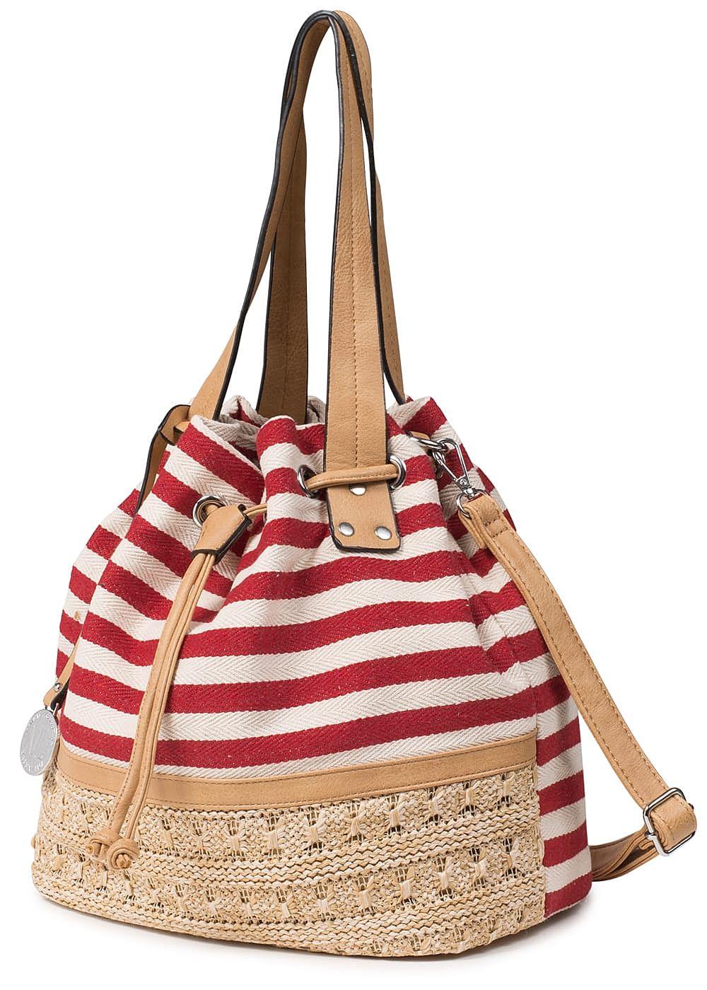6701b39c03ce0 Styleboom Fashion Damen Handtasche Streifen Breite  42 cm Höhe  32cm ...