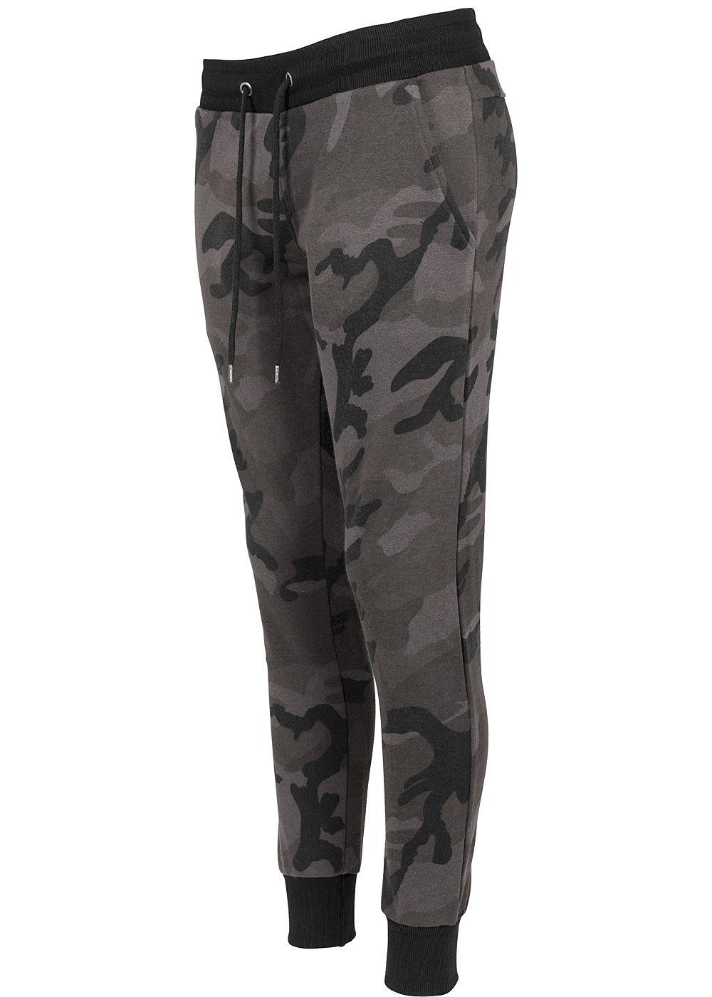 seventyseven lifestyletb damen terry jogging pants camouflage design dunkel camouflage. Black Bedroom Furniture Sets. Home Design Ideas