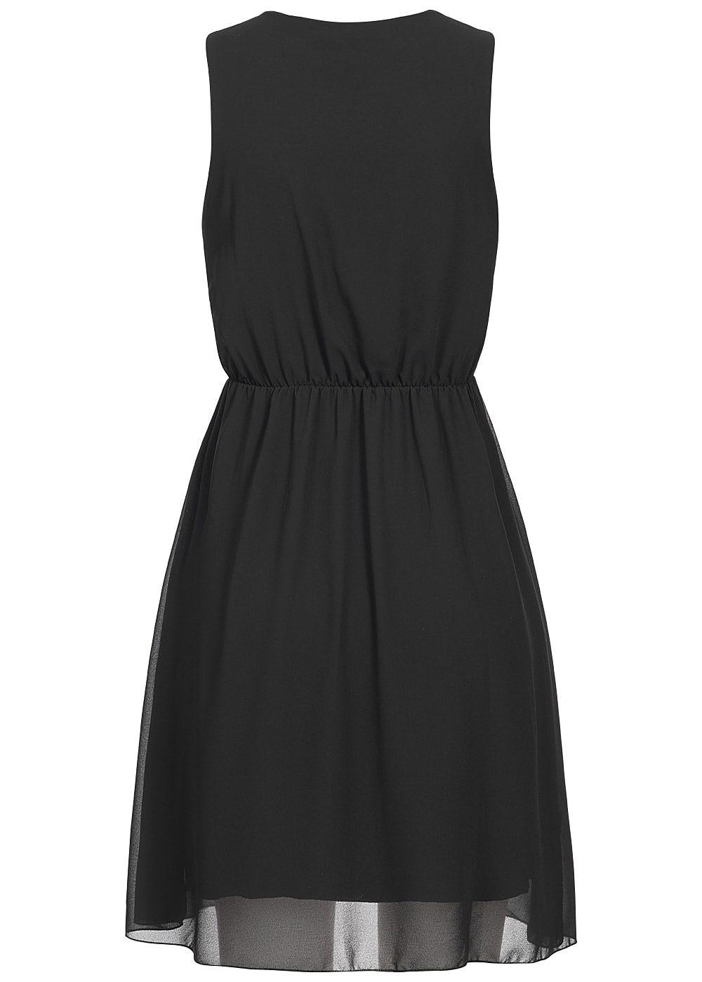 styleboom fashion damen kleid v ausschnitt zipper vorne schwarz 77onlineshop. Black Bedroom Furniture Sets. Home Design Ideas
