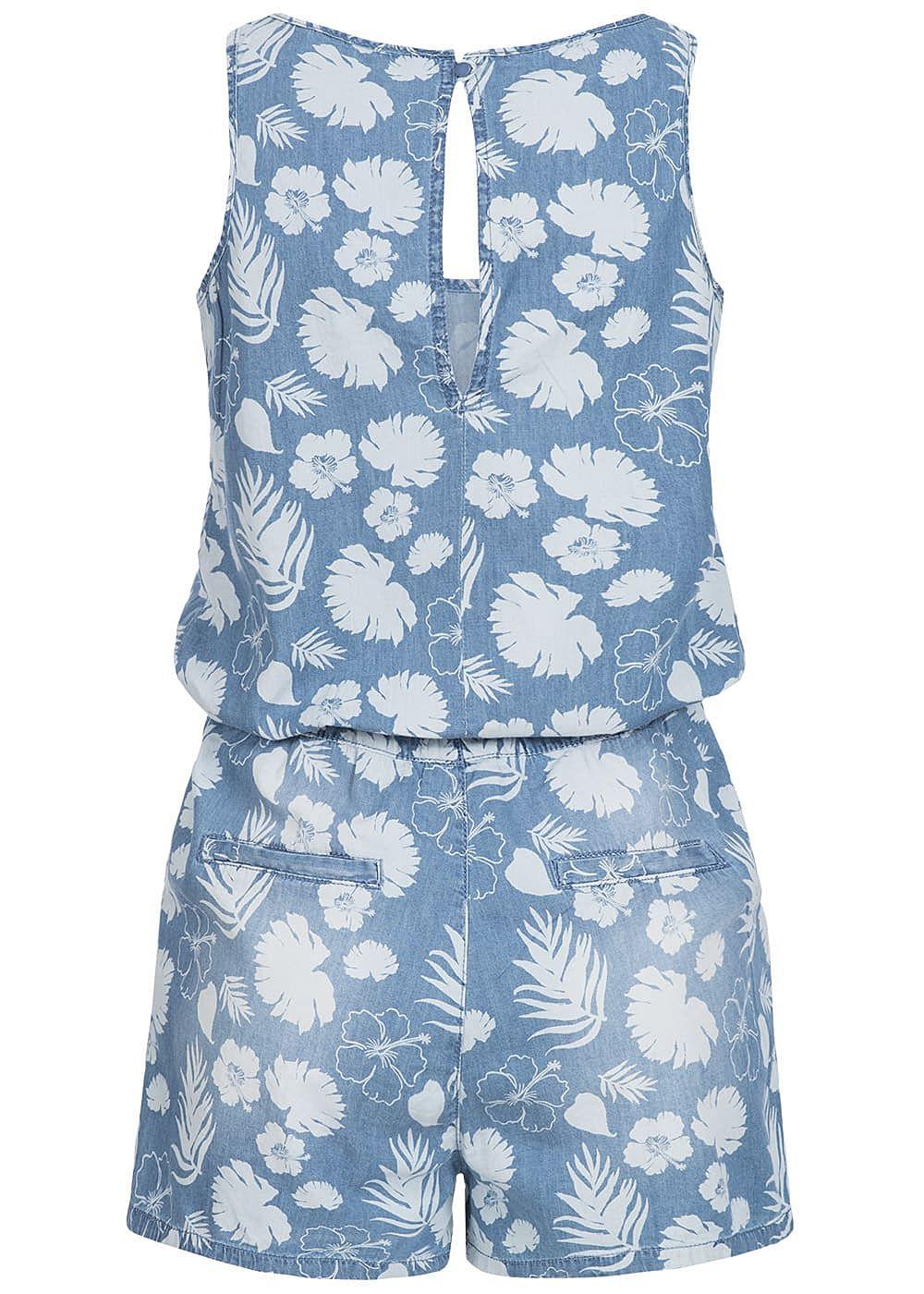 ff770311098264 Eight2Nine Damen Kurz Jumpsuit Floraler Print 2 Taschen by Sublevel ...