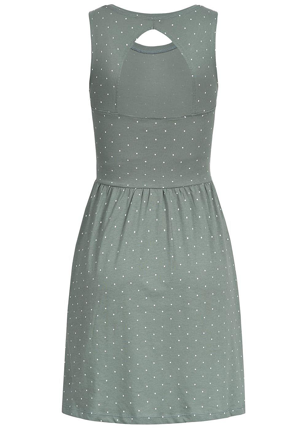 ONLY Damen Sweat Kleid Rückenausschnitt Punkte Muster ...