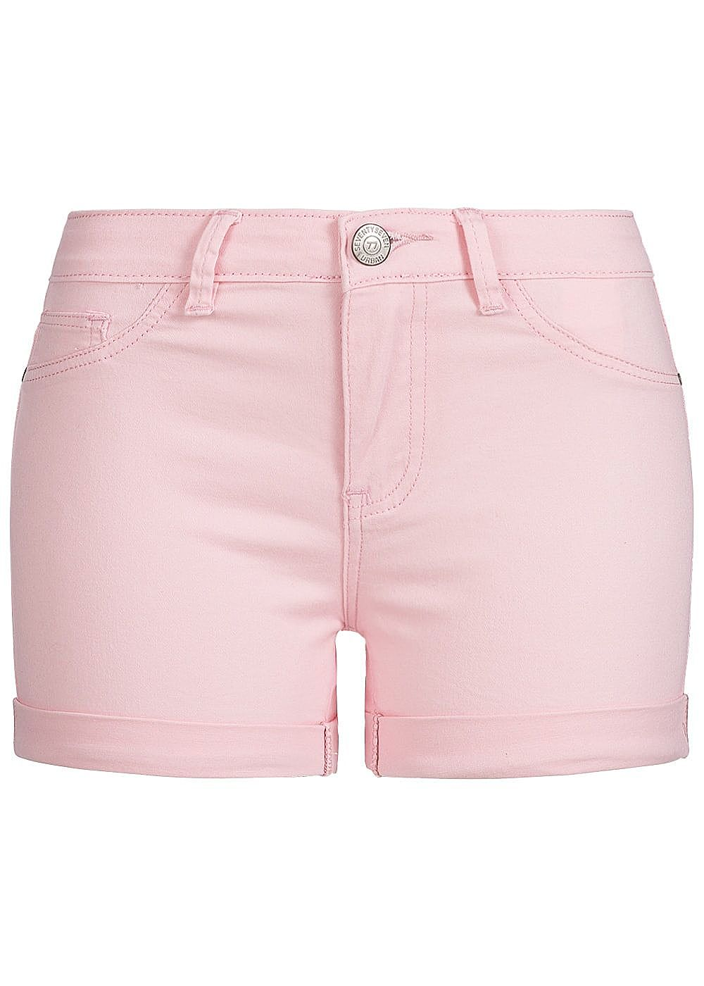fc4ae40715e3d7 Seventyseven Lifestyle Damen Shorts 2-Pockets Beinumschlag 2 Deko ...