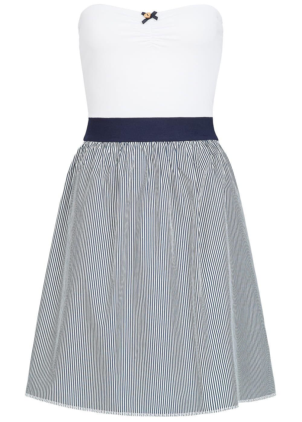 Seventyseven Lifestyle Damen Bandeau Kleid Streifen Muster ...