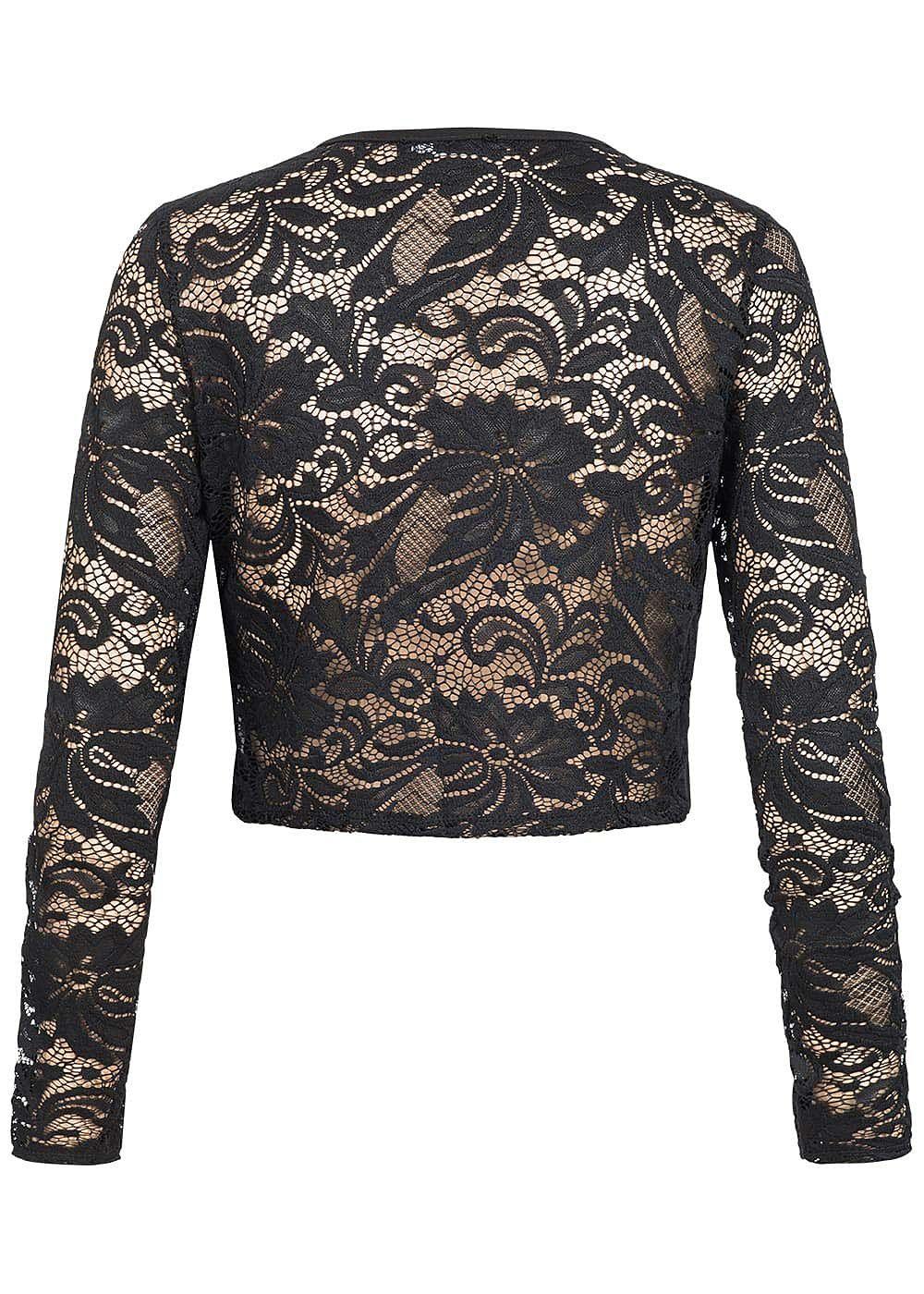 styleboom fashion damen chiffon bolero spitze schwarz 77onlineshop. Black Bedroom Furniture Sets. Home Design Ideas