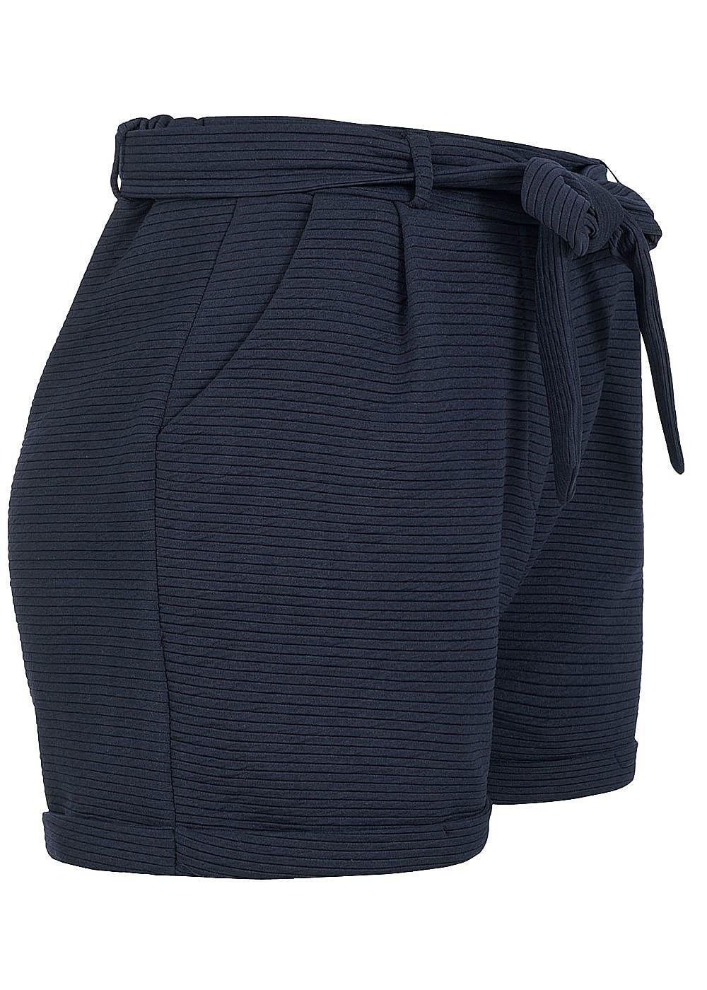 babce99d5e5ac7 Styleboom Fashion Damen Paper-Bag Shorts inkl. Gürtel Ripp-Muster ...