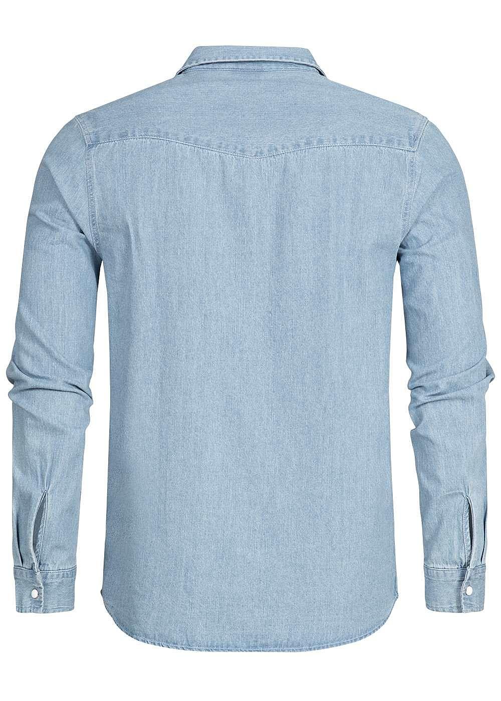 0e165c75ff186c Hailys Men Jeans Hemd 2 Brusttaschen hell blau denim - 77onlineshop
