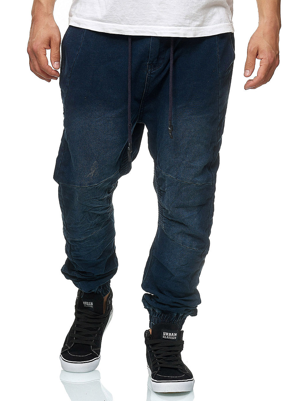 Hailys Herren Relaxed Fit Jeans Hose Sweat Pants 4-Pockets dunkel blau denim - Art.-Nr.: 18124187