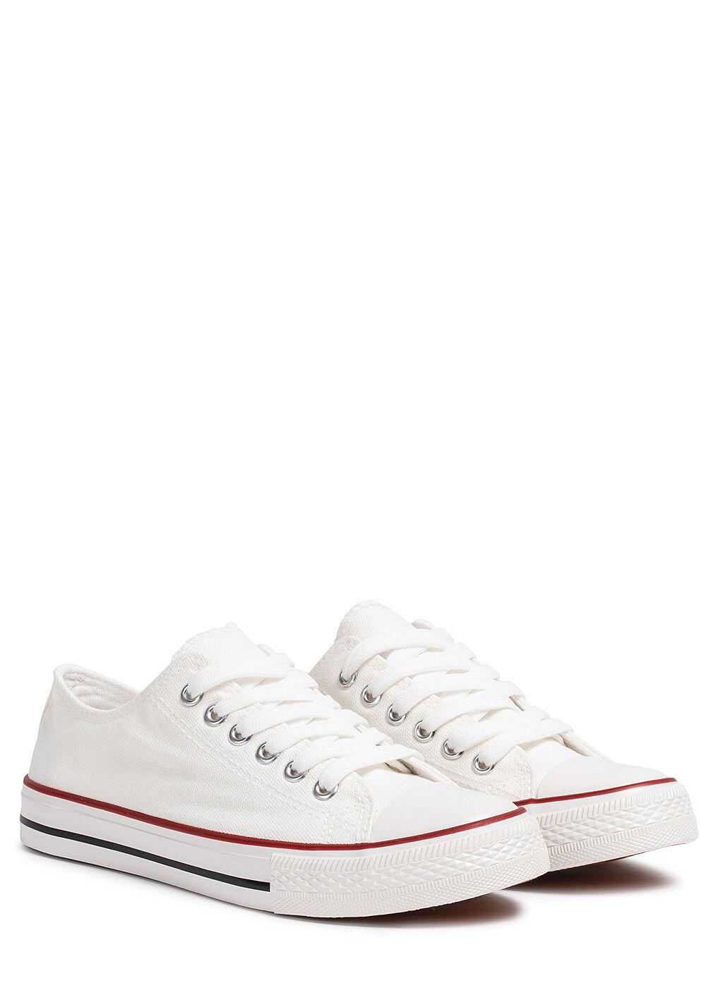 d0b865db59e7a1 Seventyseven Lifestyle Damen Schuh Canvas-Sneaker weiss - 77onlineshop
