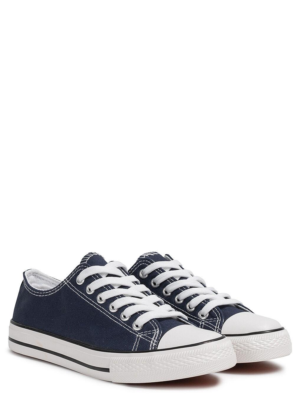 Seventyseven Lifestyle Damen Schuh Canvas Sneaker navy blau
