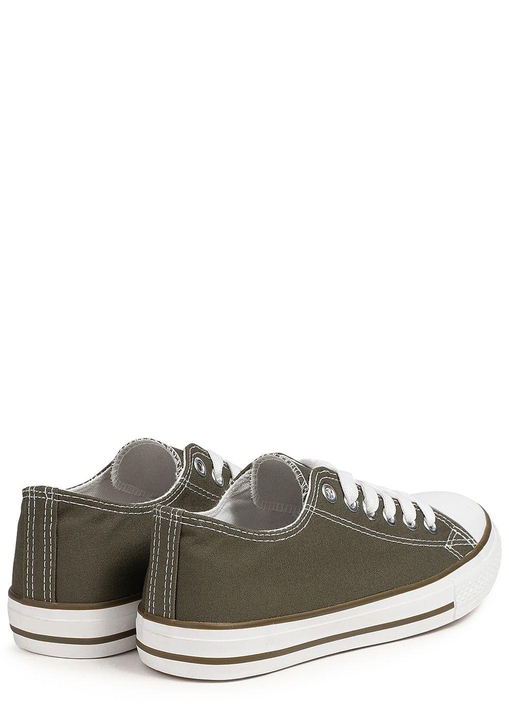 4f05f2e2b4bfb2 Seventyseven Lifestyle Damen Schuh Canvas-Sneaker olive grün ...