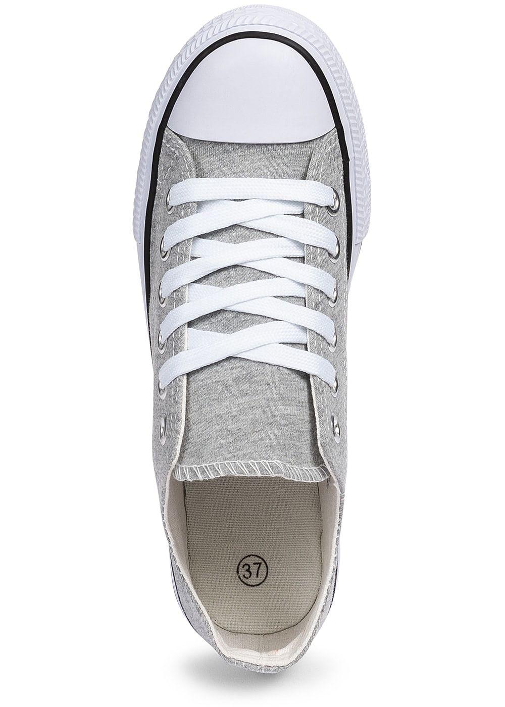 3e3d7f41712ba9 Seventyseven Lifestyle Damen Schuh Canvas-Sneaker hell grau ...