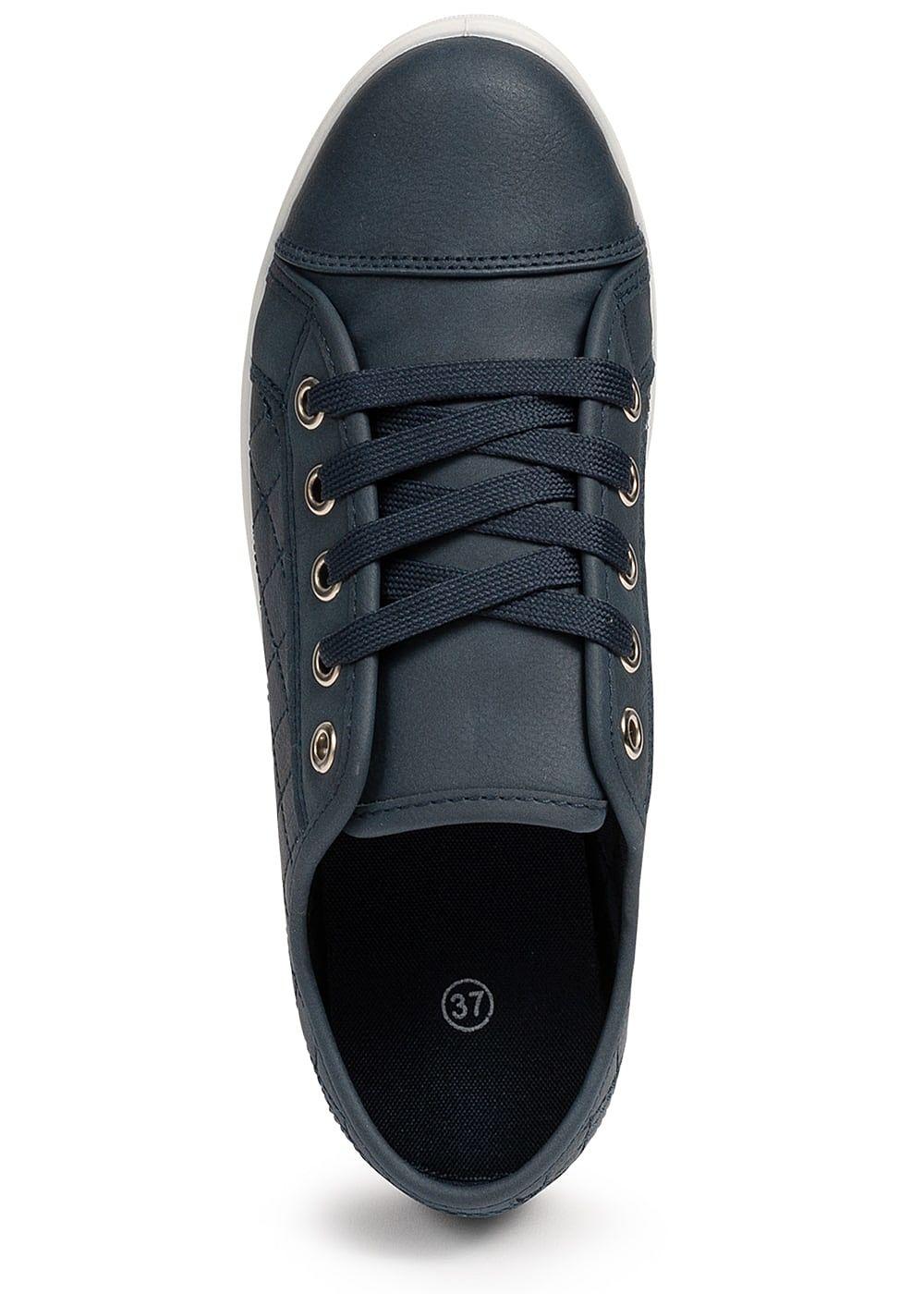 Seventyseven Lifestyle Damen Sneaker Stitches navy blau