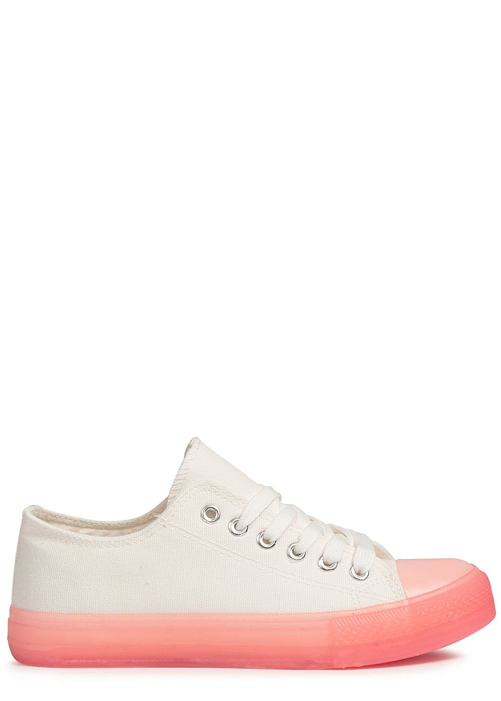 Seventyseven Lifestyle Damen Shoes Canvas-Sneaker pink weiss - Art.-Nr.: 19020646