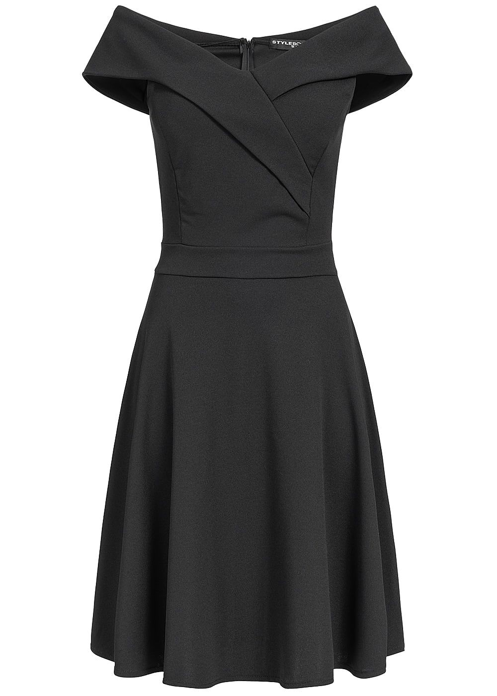 Styleboom Fashion Damen Off-Shoulder Dress schwarz - Art.-Nr.: 19026078
