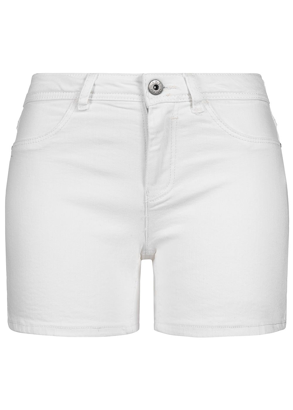 JDY by ONLY Damen Jeans Shorts 2-Pockets weiss denim - Art.-Nr.: 19030760-XS-WH