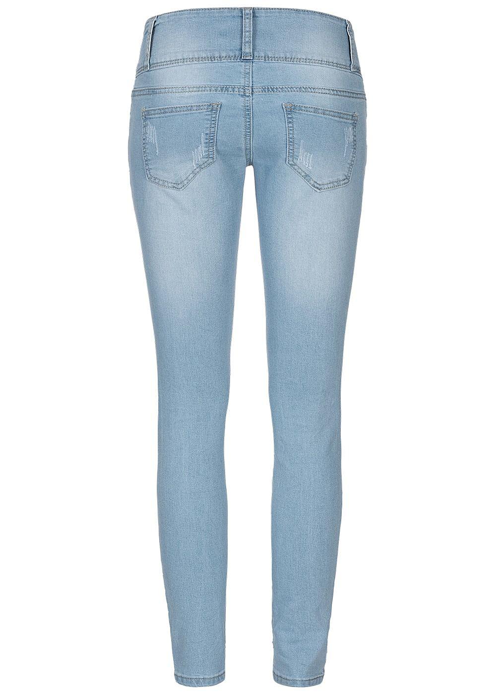 42a1ee95886e14 Seventyseven Lifestyle Damen Skinny Jeans 4-Pockets Heavy Destroy ...