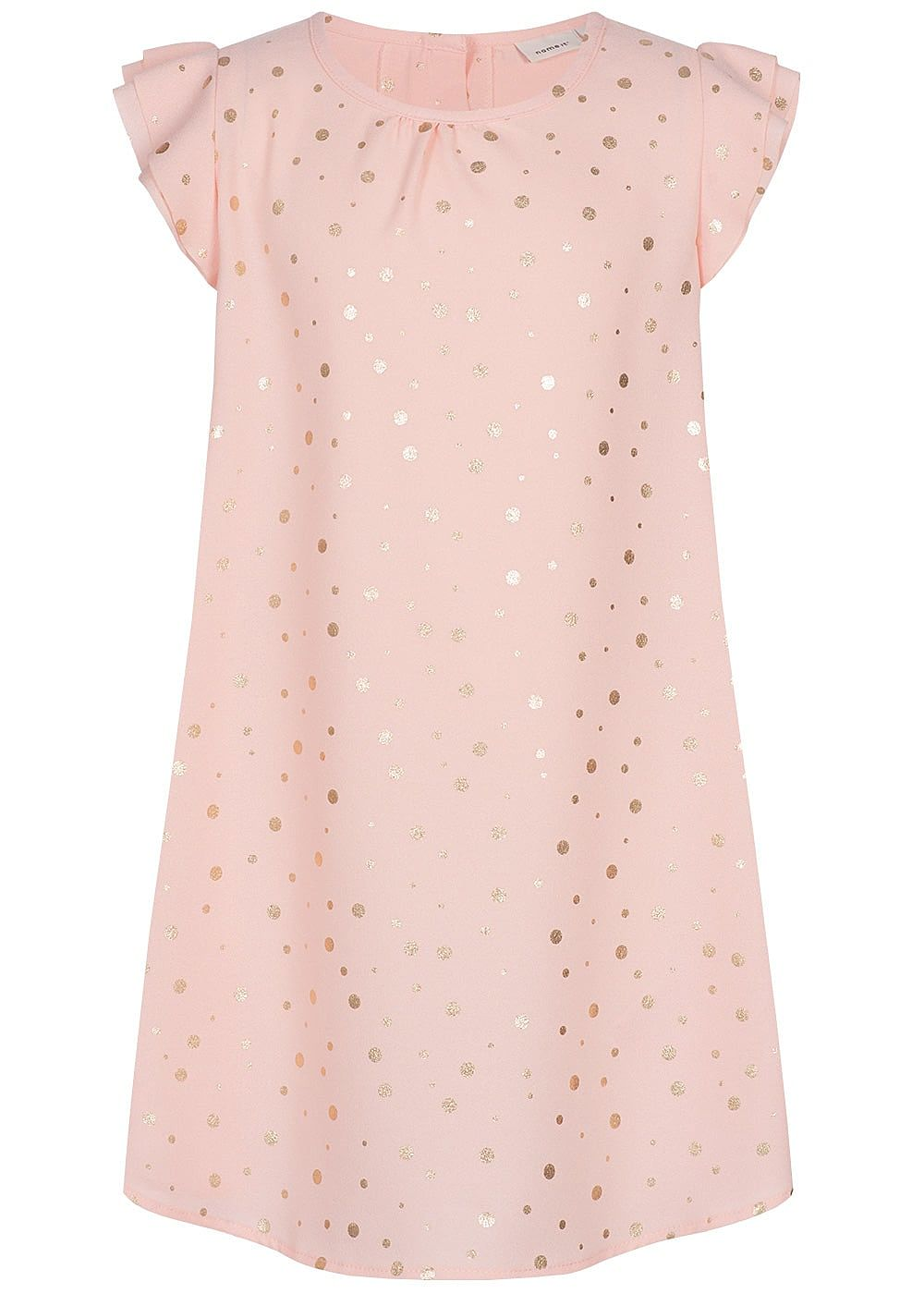 Name It Kids Mädchen Dress Points Print strawberry cream rosa gold - Art.-Nr.: 19041461