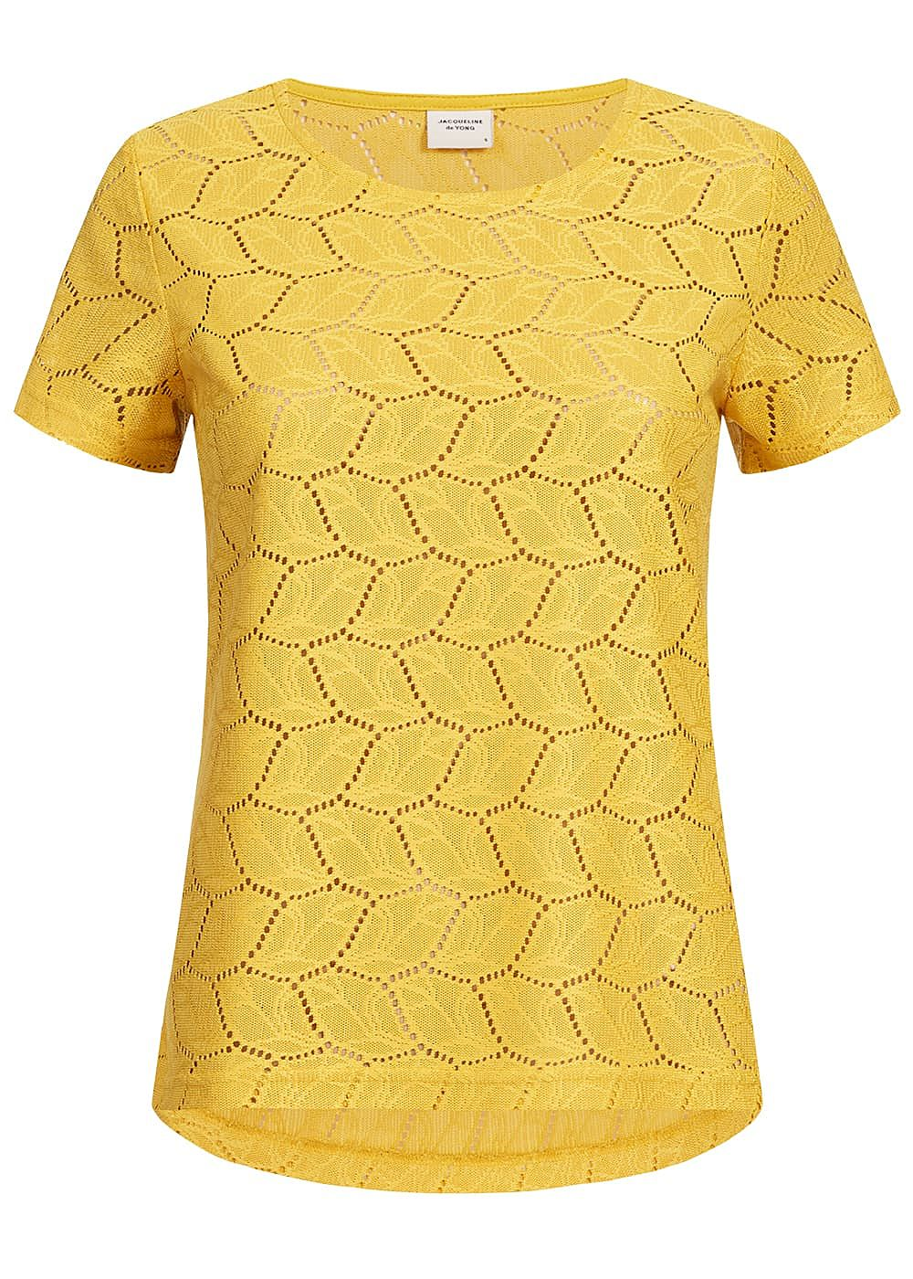 JDY by ONLY Damen T-Shirt Cut Out NOOS mustard gelb - Art.-Nr.: 19041612