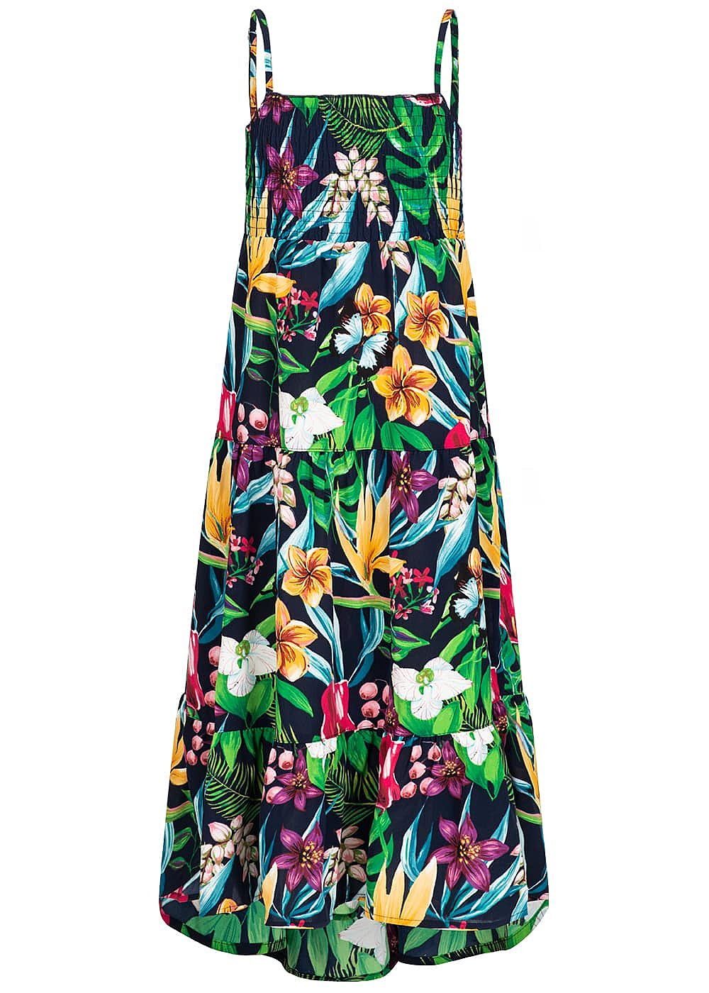 Name It Kids Mädchen Maxi Dress Flower Print dark sapphire blau multicolor - Art.-Nr.: 19051689