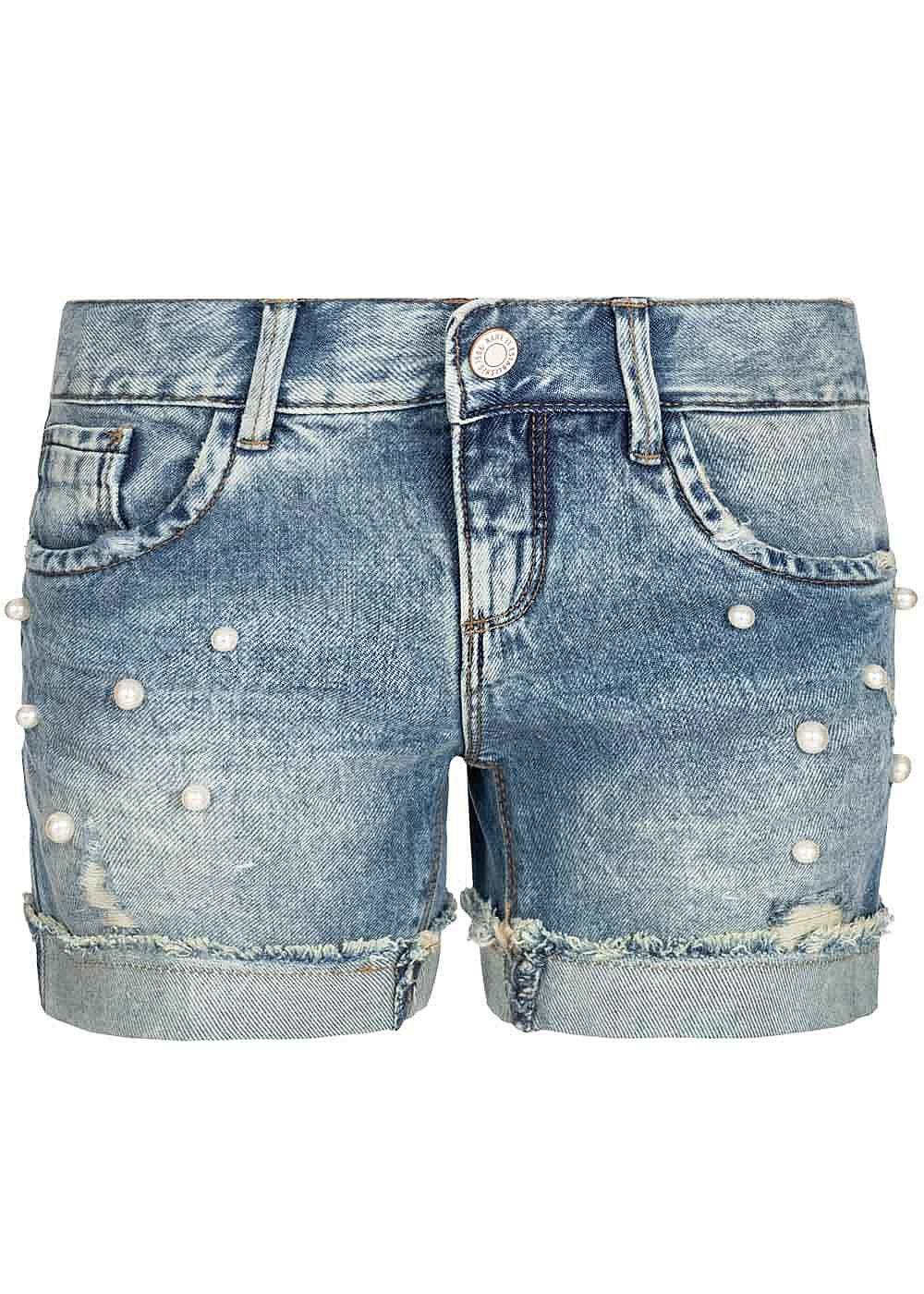 Name It Kids Mädchen Jeans Shorts Deco Pearls 5-Pockets NOOS hell blau denim - Art.-Nr.: 19051692