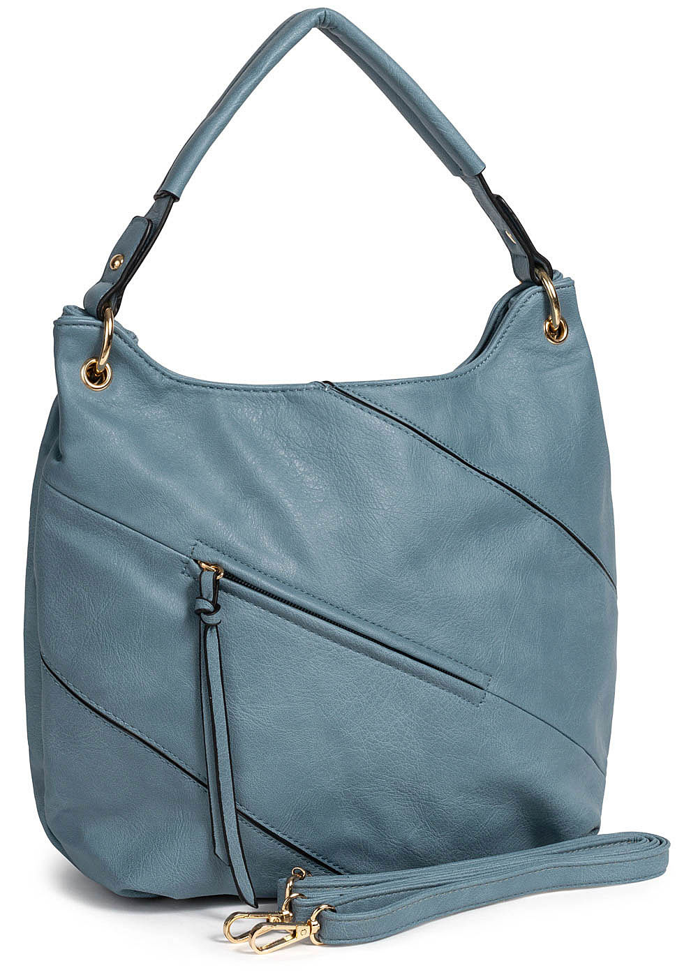 Styleboom Fashion Damen Tote Zip Bag hell blau - Art.-Nr.: 19062549-OS-BL