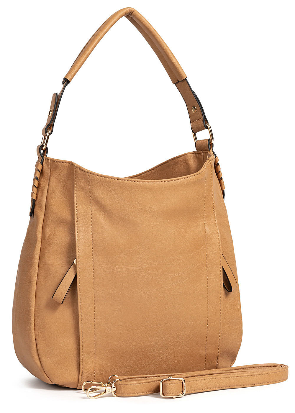 Styleboom Fashion Damen Tote Zip Bag camel braun - Art.-Nr.: 19062561-OS-BR