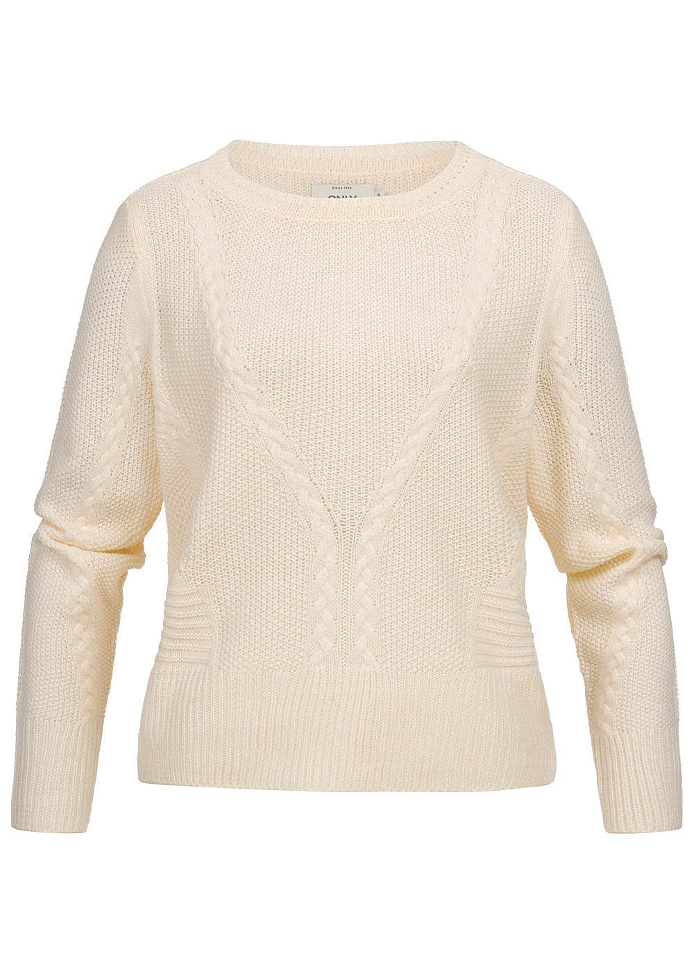 ONLY Damen Cable Knit Pullover cloud dancer weiss - Art.-Nr.: 19083336