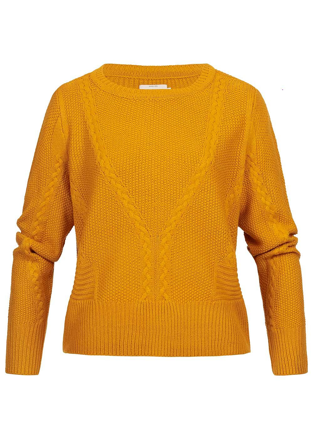 ONLY Damen Cable Knit Pullover golden gelb - Art.-Nr.: 19083337-L-YE