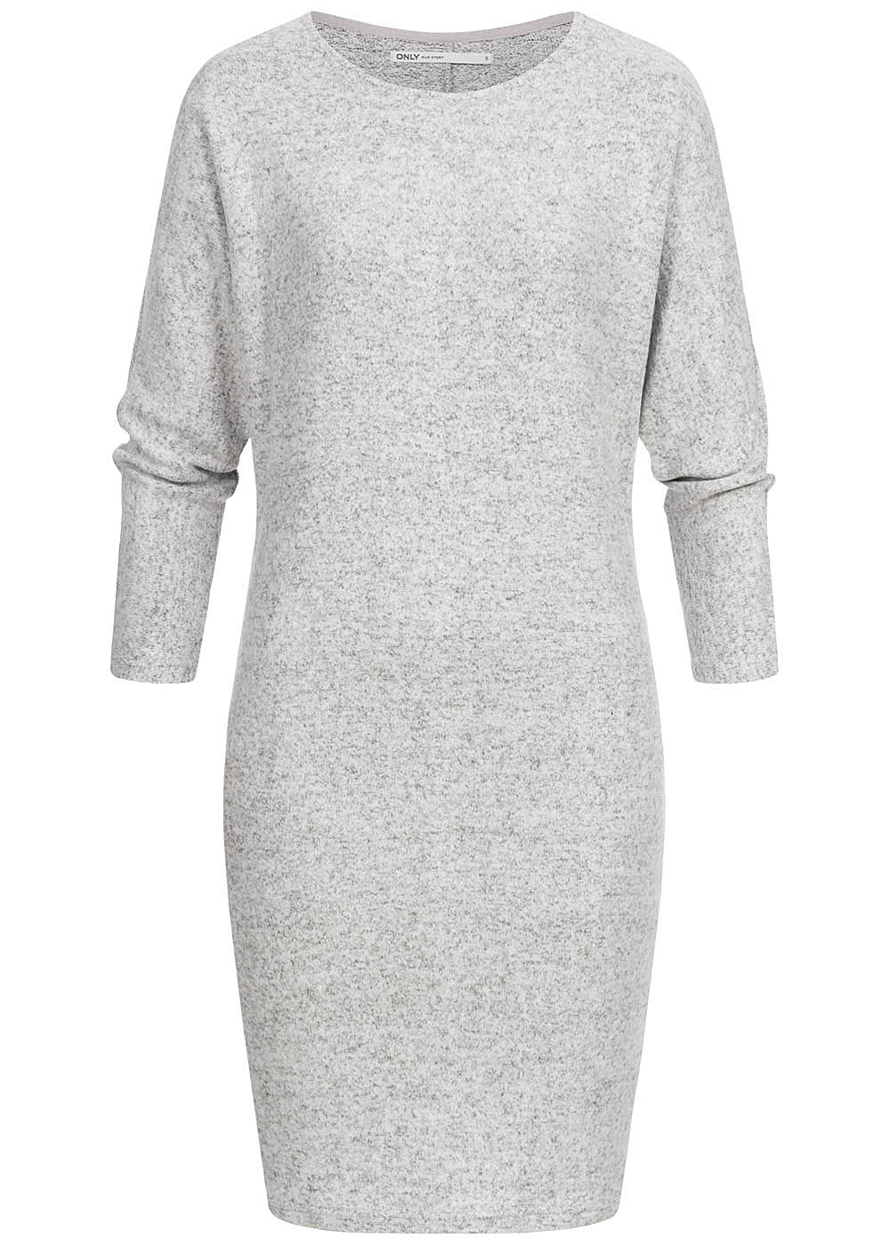 ONLY Damen 7/8 Bat Sleeve Knit Dress hell grau melange - Art.-Nr.: 19083557