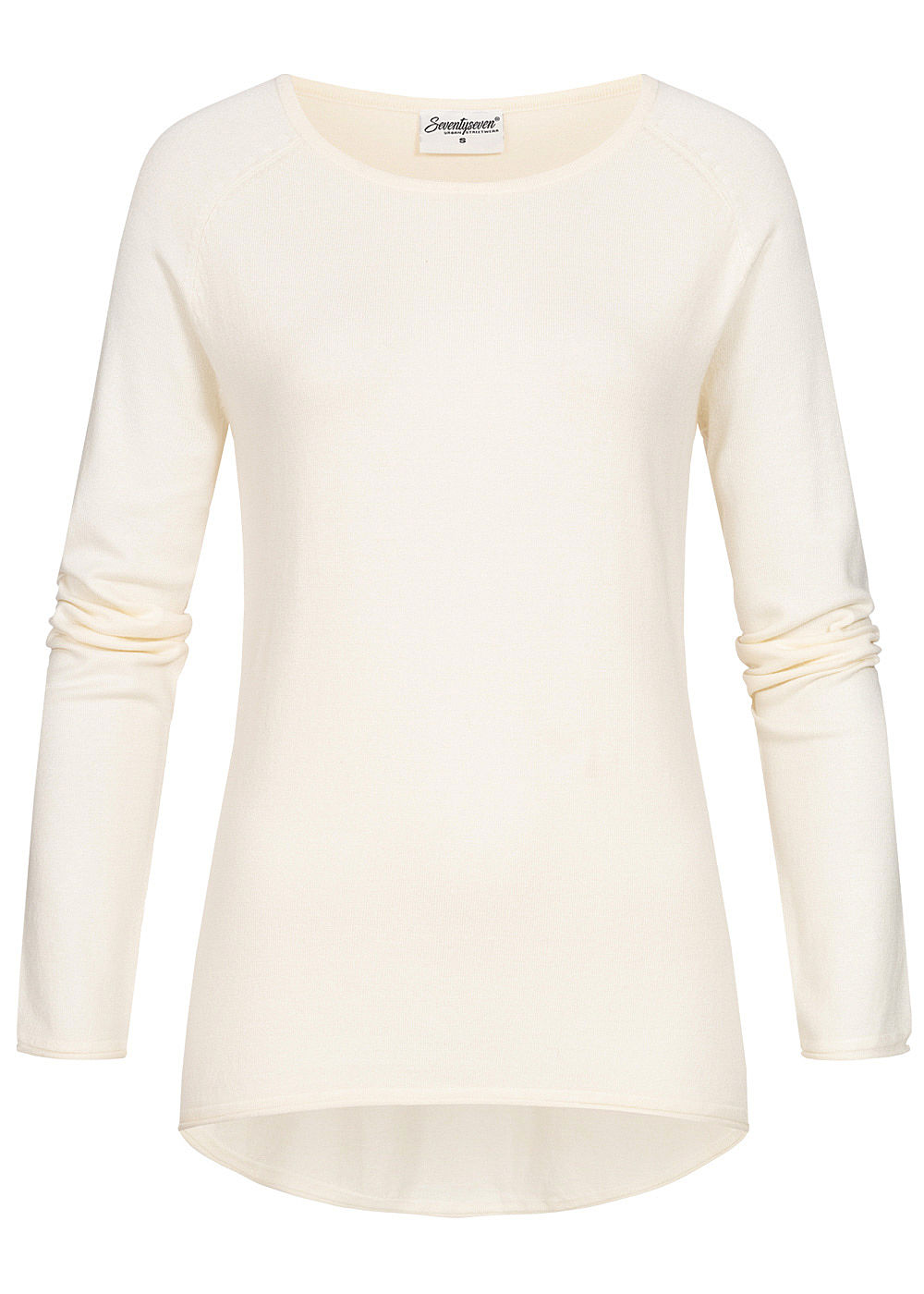 Seventyseven Lifestyle Damen Soft Touch Pullover ecru off weiss - Art.-Nr.: 19098079