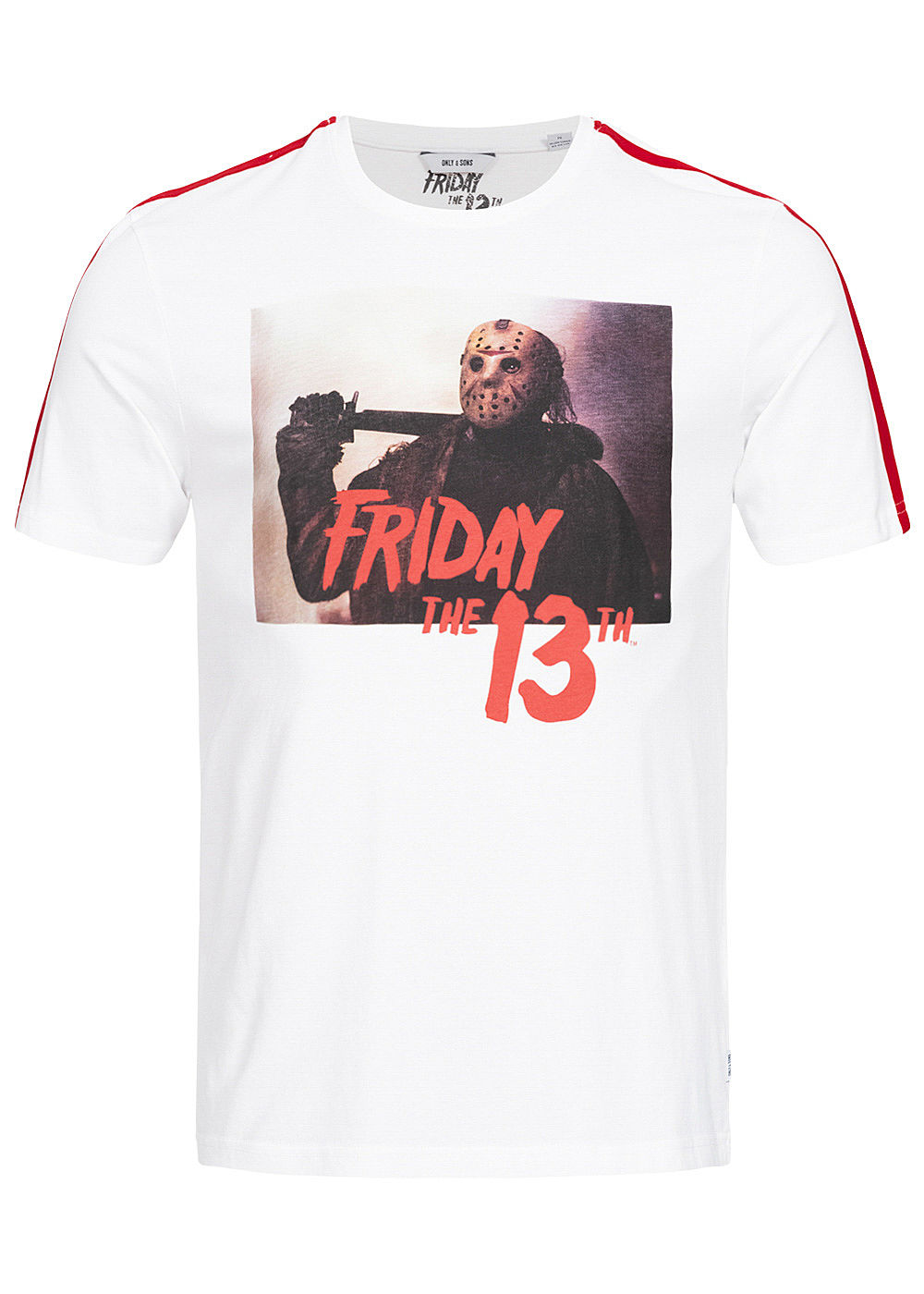 ONLY & SONS Herren T-Shirt Friday the 13th Print weiss - Art.-Nr.: 19104127