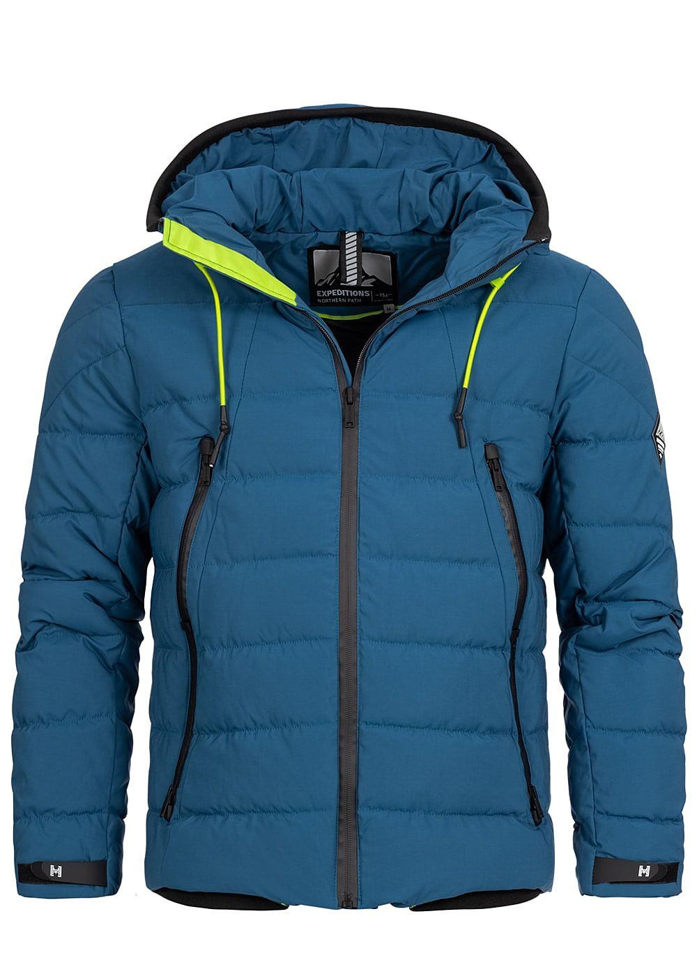 77onlineshop Herren Hailys Kapuze Winter Blau Pockets Jacke 4 yfY6b7g