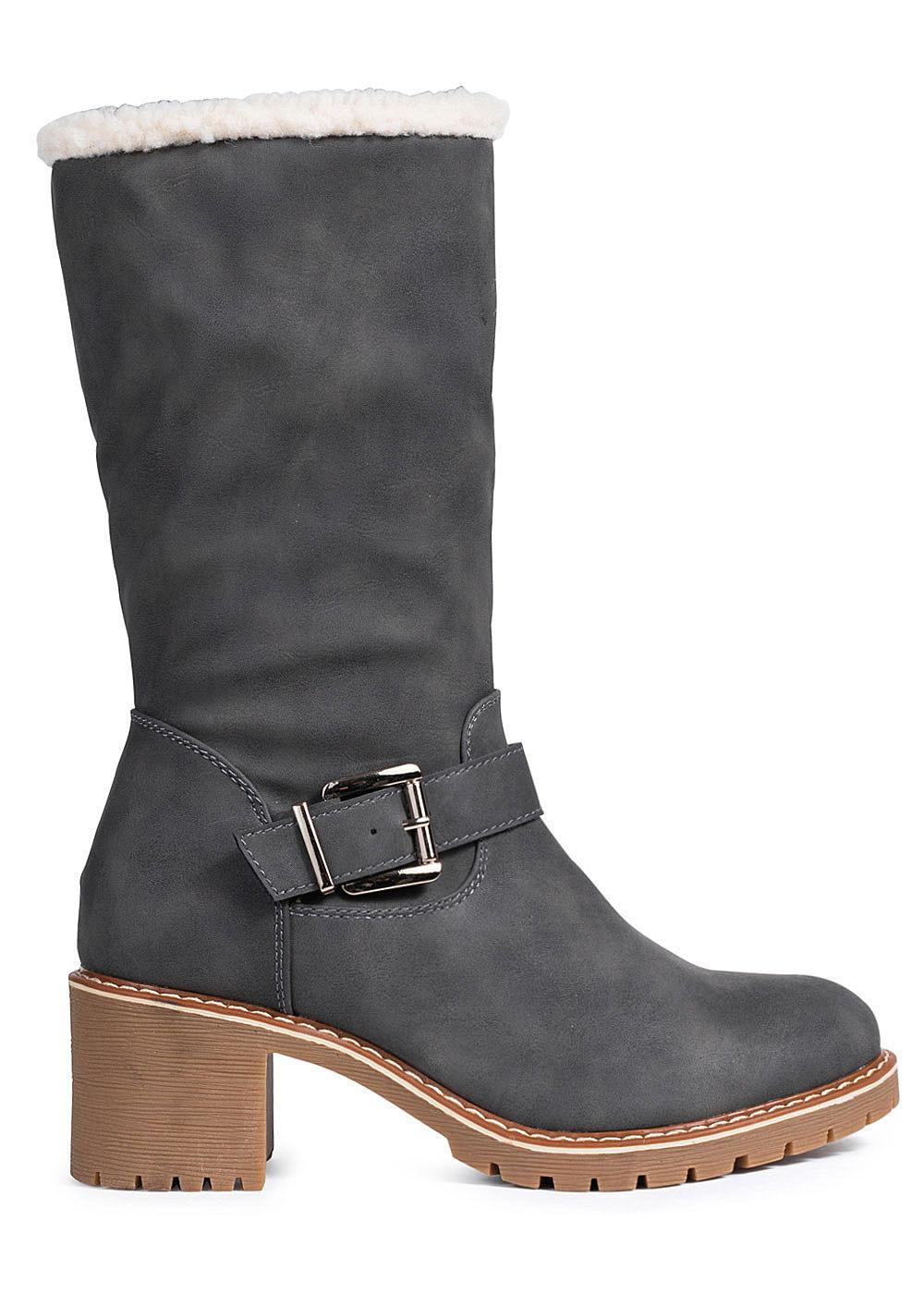 Seventyseven Lifestyle Damen Schuh Halbstiefel Zipper Deko