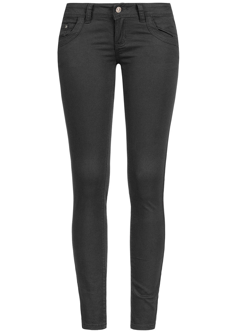 Seventyseven Lifestyle Damen Skinny Jeans 5-Pockets Low Waist schwarz denim - Art.-Nr.: 19127095