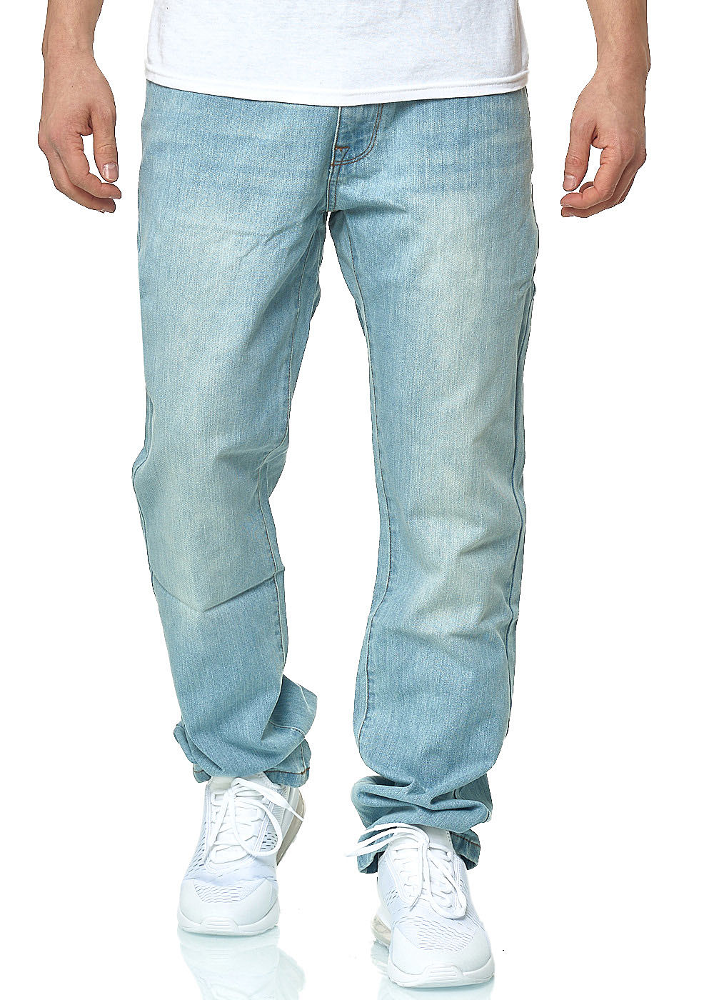 Seventyseven Lifestyle Herren Relaxed Fit Jeans Hose 5-Pockets light wash denim - Art.-Nr.: 20030943-3832-DN