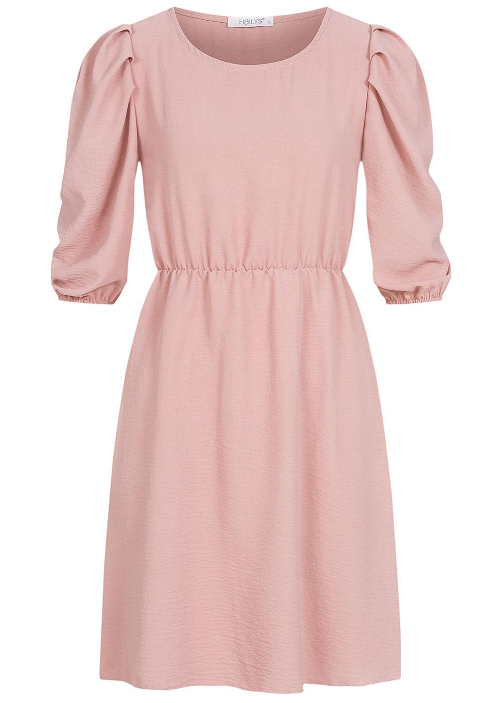 Hailys Damen 17/17 Arm Puffer Kleid rosa