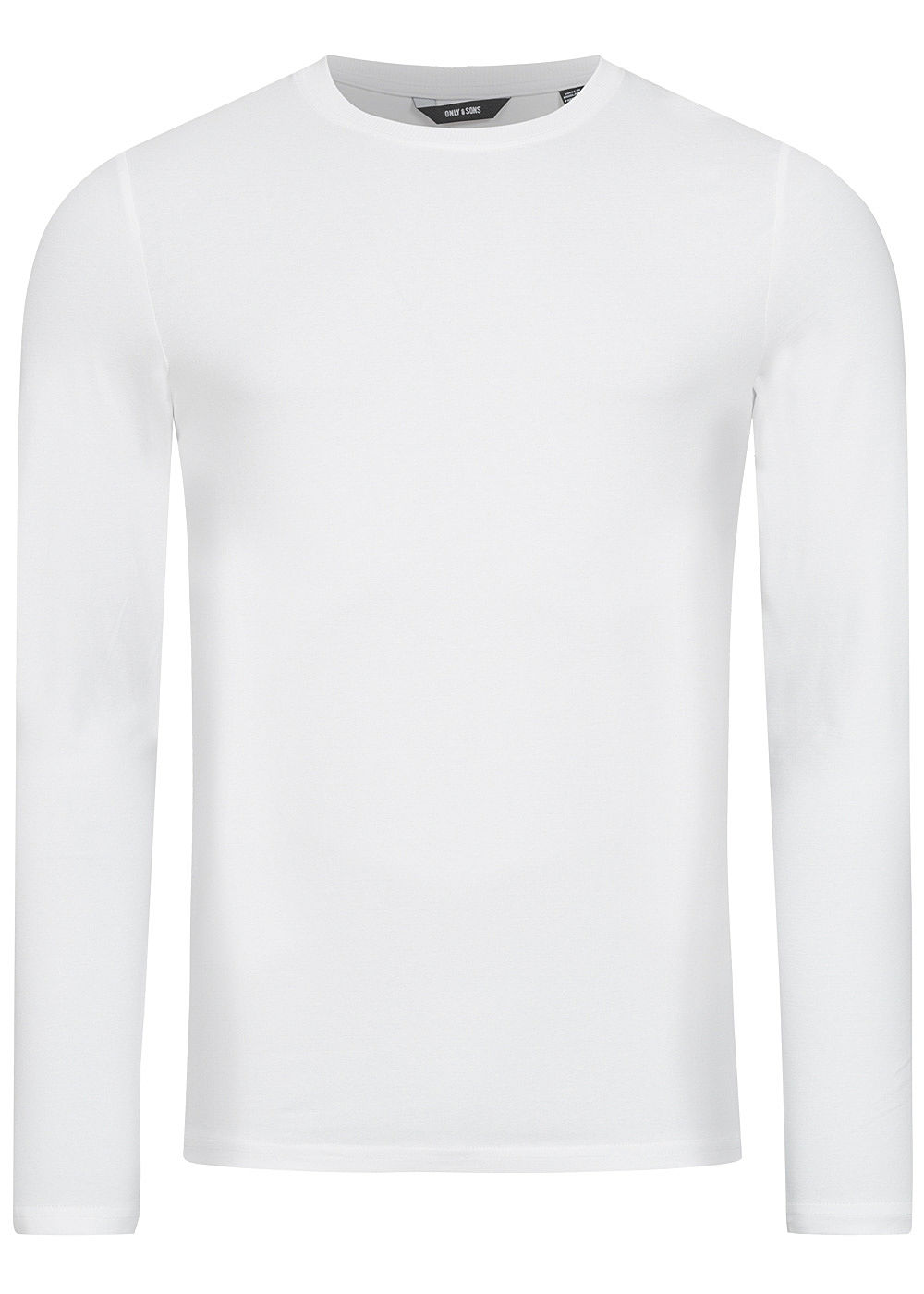 ONLY & SONS Herren NOOS Basic Longsleeve Slim Fit weiss - Art.-Nr.: 20031336