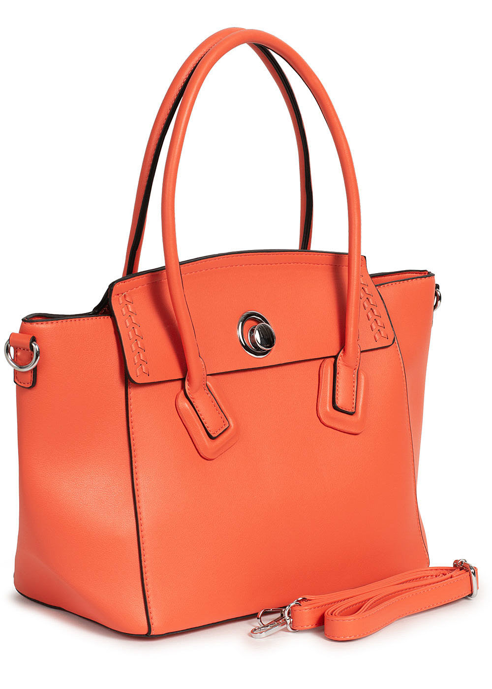 Styleboom Fashion Damen Kunstleder Handtasche 49x29cm sehr stabil orange - Art.-Nr.: 20041752-OS-OR
