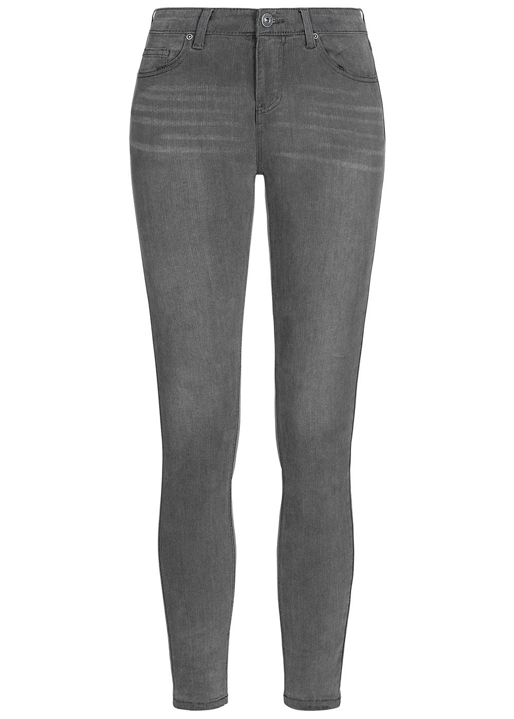 Hailys Damen Skinny Jeans Hose 5-Pockets grau denim - Art.-Nr.: 20083859