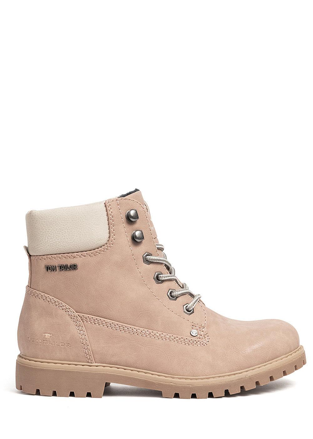 Tom Tailor Damen Schuh Worker Boots Stiefelette Kunstleder