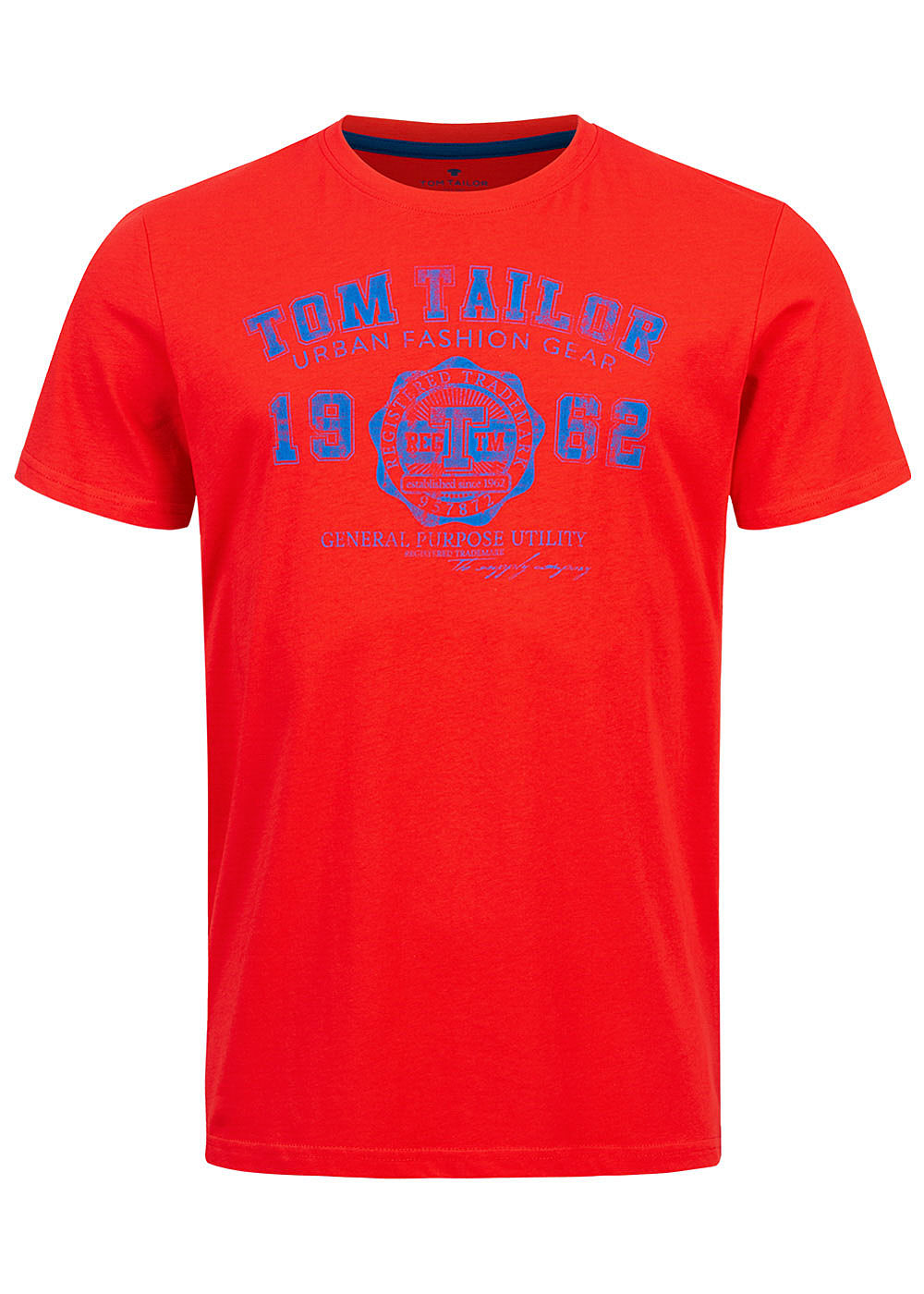 Tom Tailor Herren T-Shirt Logo Print 1962 brilliant rot - Art.-Nr.: 20094224