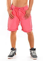 Eight2Nine Herren Bermuda Short mit Aufschlag 5 Pocket luminous coral