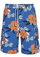 Montezuma Badehose SALE 1720688 Hibiskus All over V2 hell blau