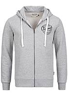 Jack and Jones Zip Hoodie Regular Fit Originals Logo Kordelzug hell grau melange